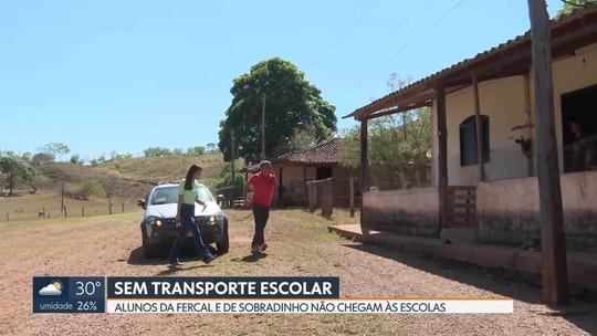 Alunos da Fercal e de Sobradinho estão sem transporte escolar