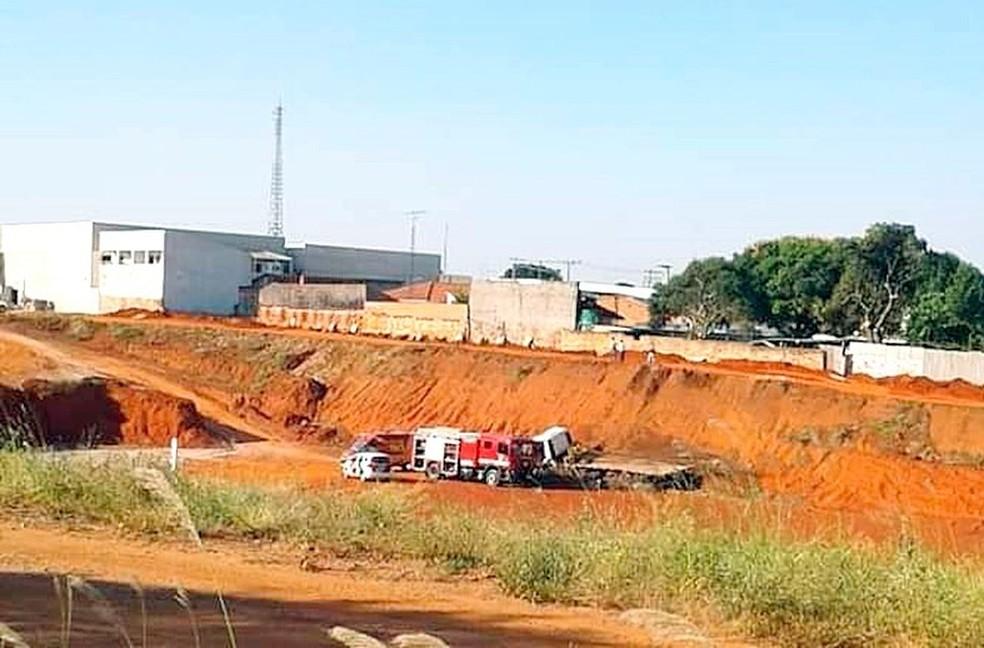 Homem morreu enquanto trabalhava em obra no centro de Boituva (SP) — Foto: Redes Sociais/Reprodução