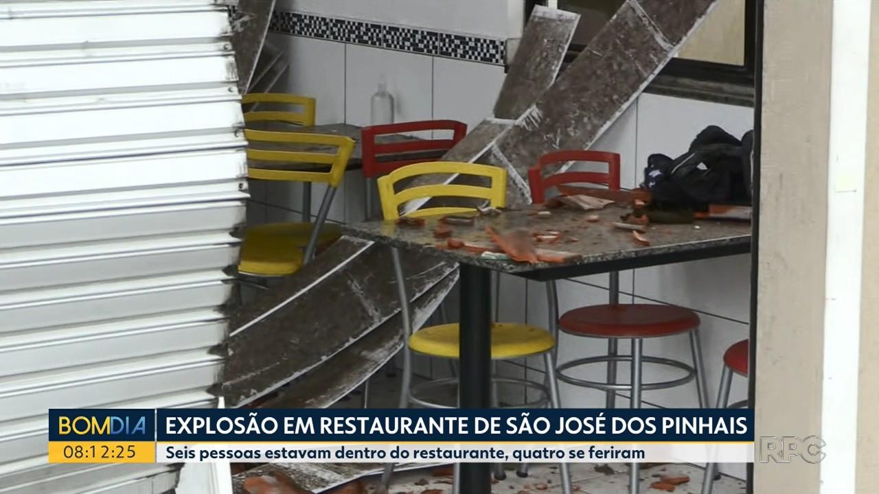 Explosão em restaurante deixa quatro pessoas feridas