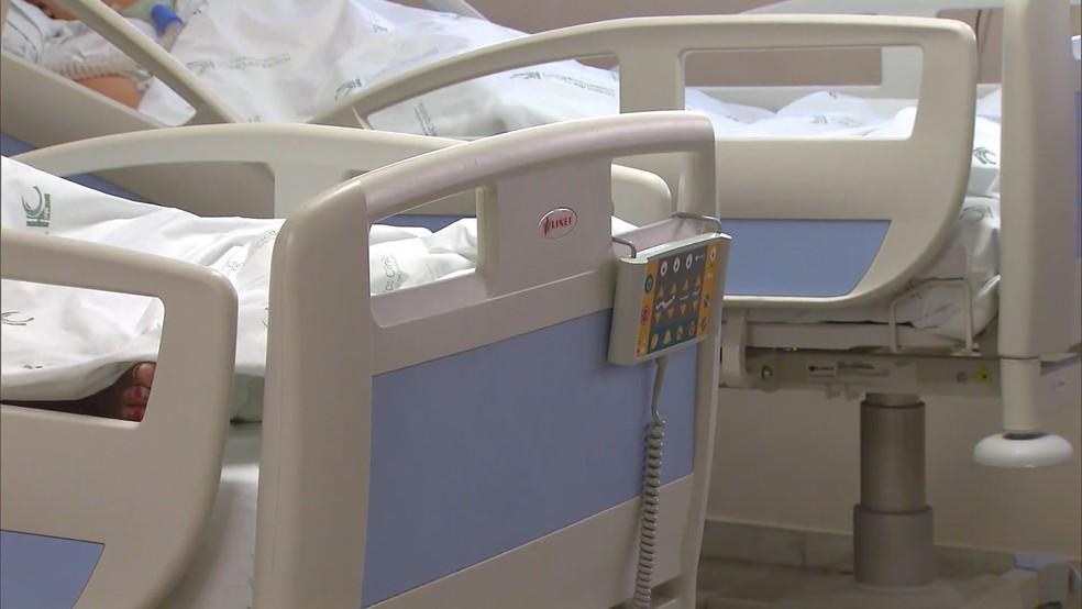 Imagem de arquivo Leito hospital Covid-19 Minas Gerais 2021 — Foto: Reprodução/TV Integração