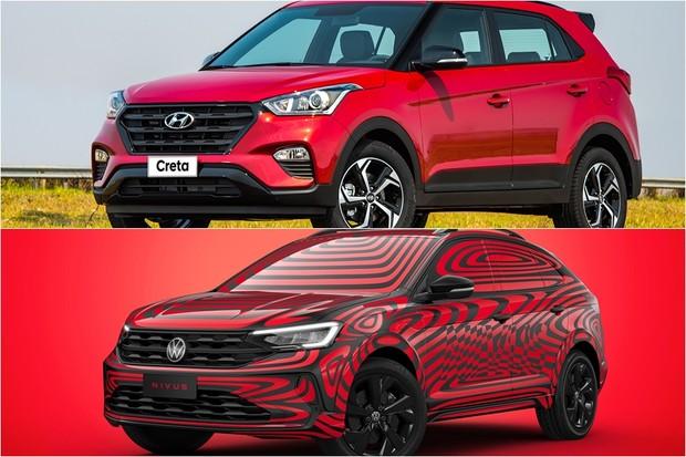 Volkswagen Nivus Hyundai Creta Comparativo (Foto: Montagem/Divulgação)