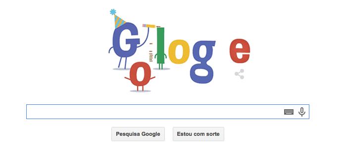 Google faz aniversário no dia 27 de setembro (Foto: Reprodução/Google)