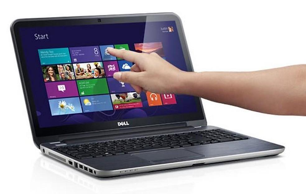 Sem tela touch evite pressionar o display de seu notebook — Foto: Divulgação/Dell
