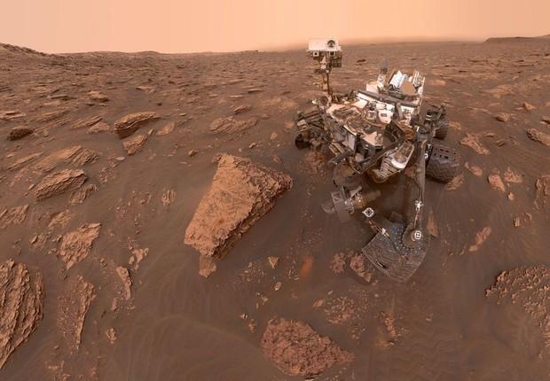 Selfie do Opportunity, robô de exploração de Marte (Foto: Divulgação/Nasa)