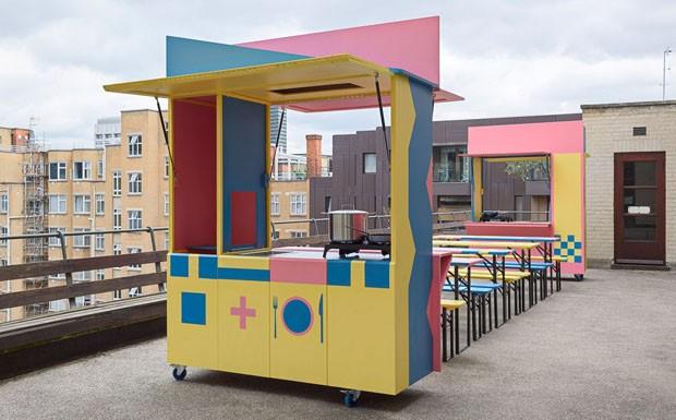Arquitetos britânicos criam cozinha pop-up para ajudar refugiados (Foto: Divulgação)