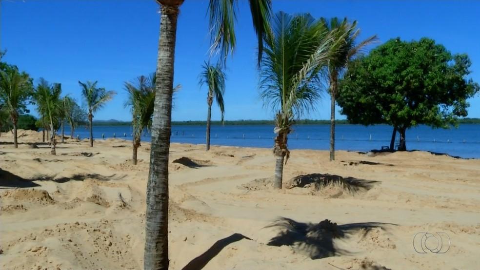Temporada de veraneio na praia do Caju começa neste sábado (Foto: Reprodução/TV Anhanguera)