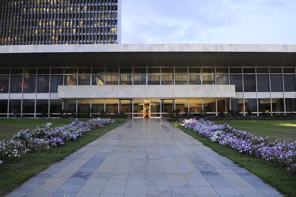 Fachada do Palácio do Buriti, sede do Executivo em Brasília — Foto: TV Globo/Reprodução