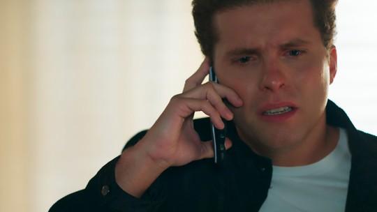 Caio se desaponta ao descobrir que Ricardo está vivo: 'Vou ter que terminar o serviço'