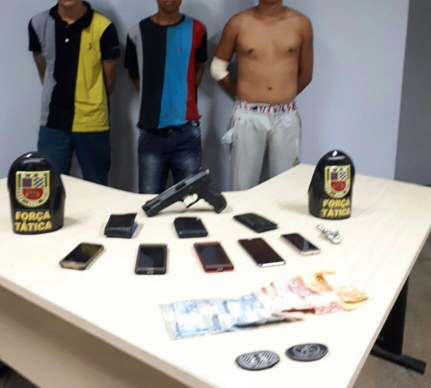Trio suspeito de roubar motorista de app de transporte privado é detido em Manaus