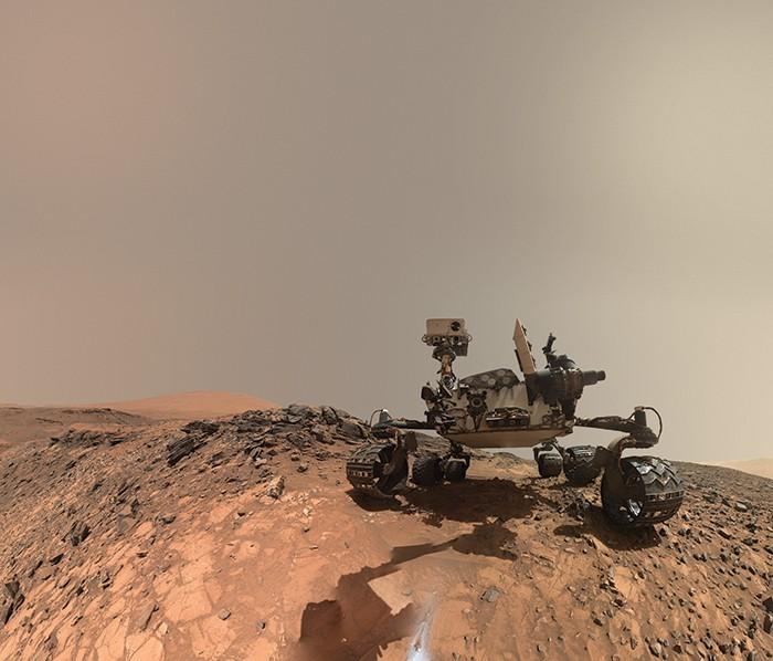 Robô Curiosity em Marte (Foto: Robô Curiosity em Marte (Foto: Nasa JPL — Caltech))