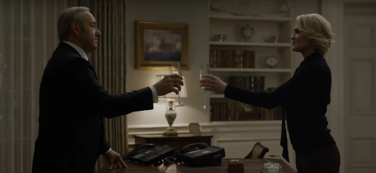 Cena do trailer da quinta temporada de <em>House of Cards</em> (Foto: Reprodução/Youtube)