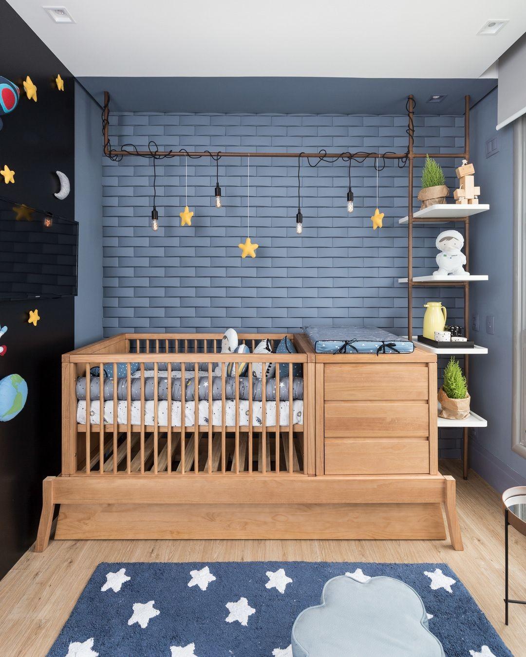 Decoração espacial: ideias para fazer no quarto infantil (Foto: Pinterest)