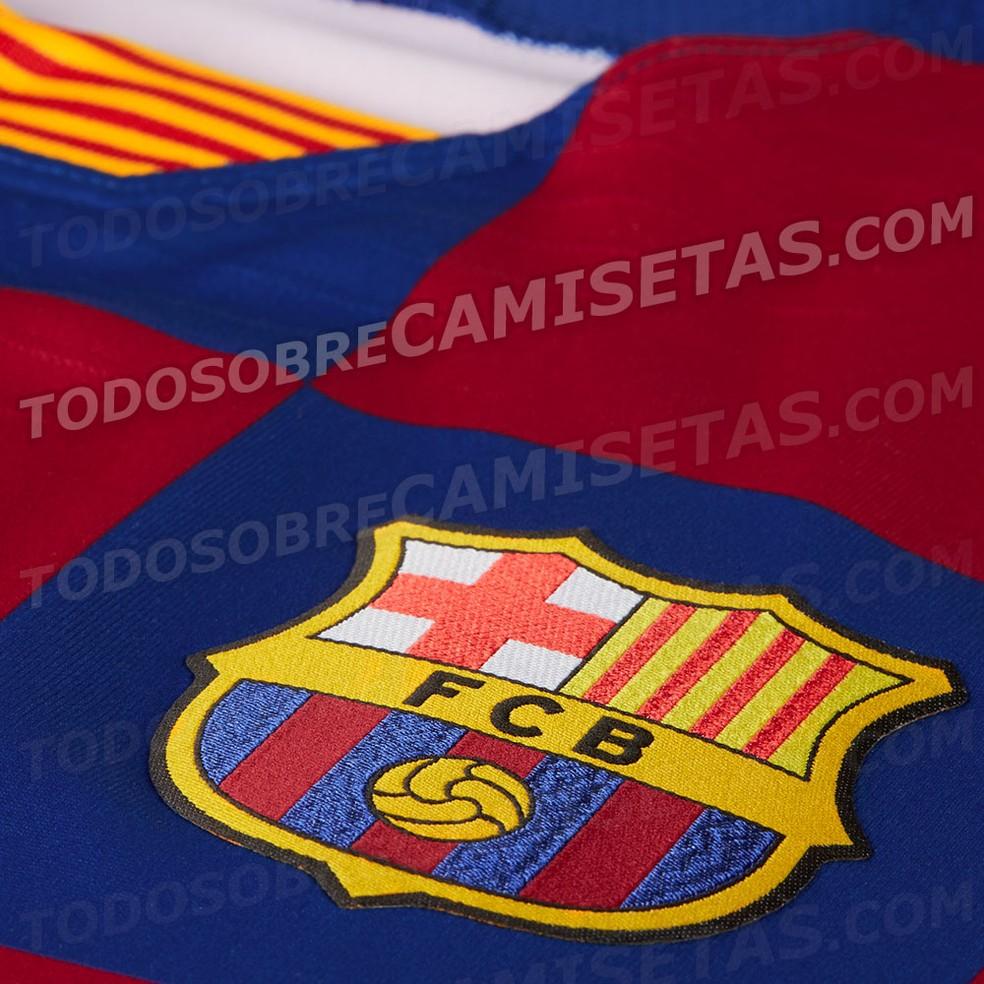 Camisa Barcelona Croácia 2019/20 — Foto: Reprodução / Todo Sobre Camisetas