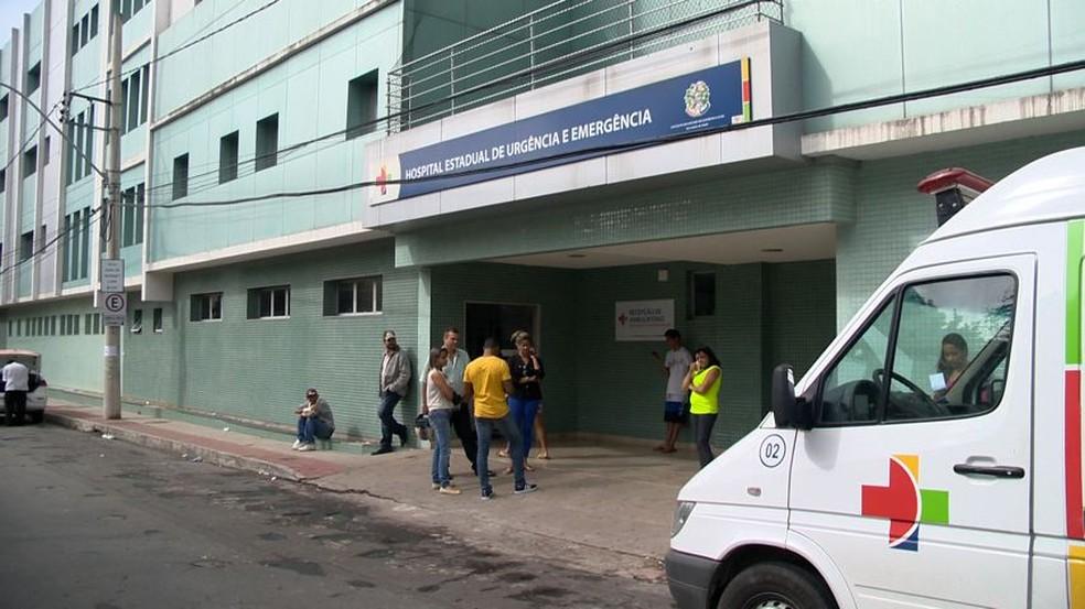 Hospital São Lucas, no bairro Forte São João, em Vitória (Foto: Reprodução/ TV Gazeta)