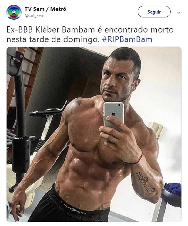 Kléber Bambam  é alvo de morte falsa na web (Foto: Reprodução/Twitter)