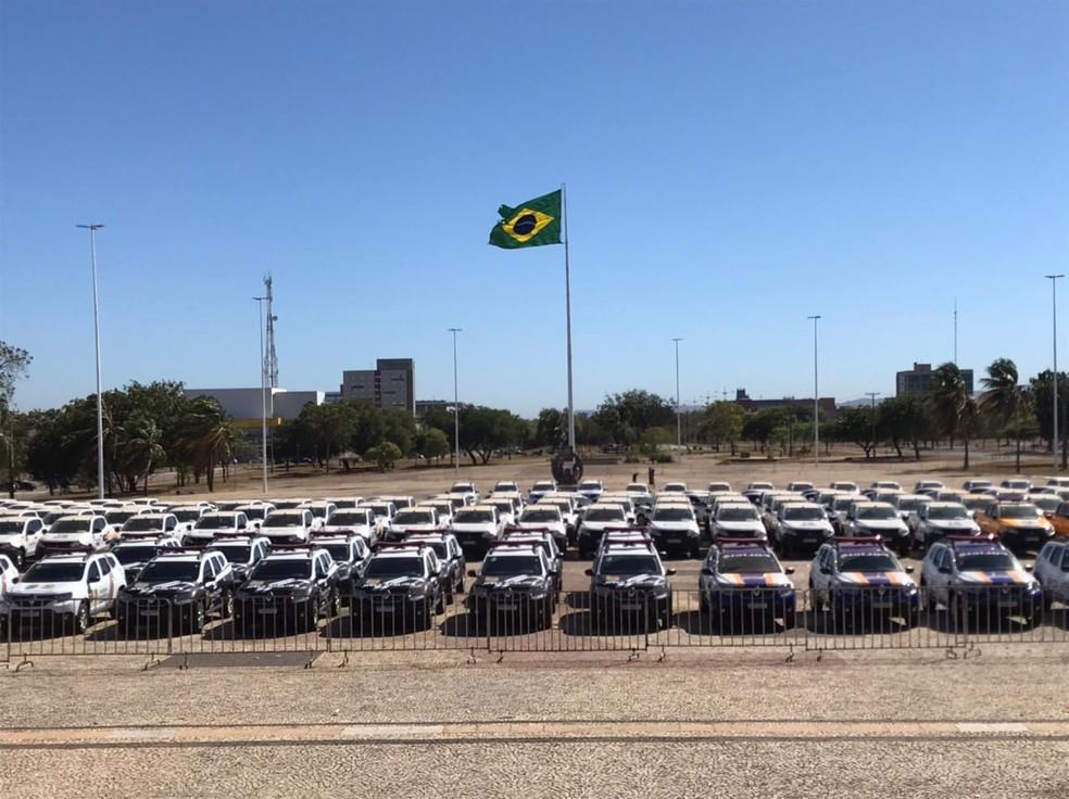Os primeiros veículos da frota já foram entregues — Foto: João Guilherme Lobasz/G1