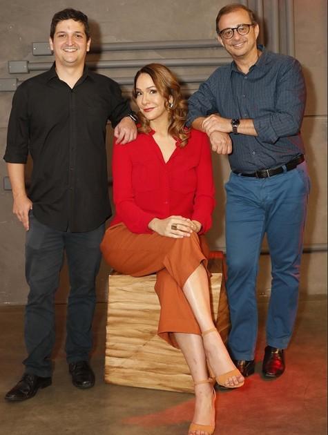 Daniel Sousa, Maria Beltrão e Octávio Guedes (Foto: Marcelo de Jesus)