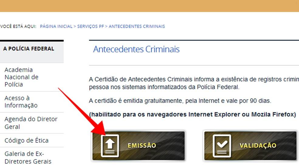 Como Obter Certidao De Antecedentes Criminais Na Policia Federal Internet Techtudo