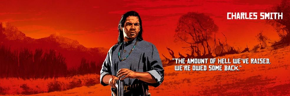Charles Smith, de Red Dead Redemption 2 — Foto: Divulgação/Rockstar