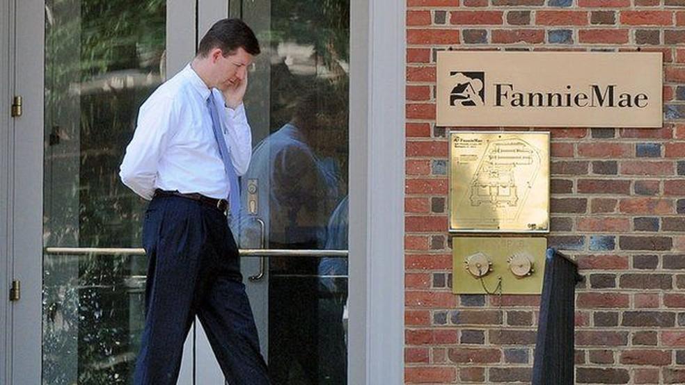 As financiadoras Fannie Mae e Freddie Mac foram resgatadas pelo governo, num sinal de agravamento da crise — Foto: The Washington Post
