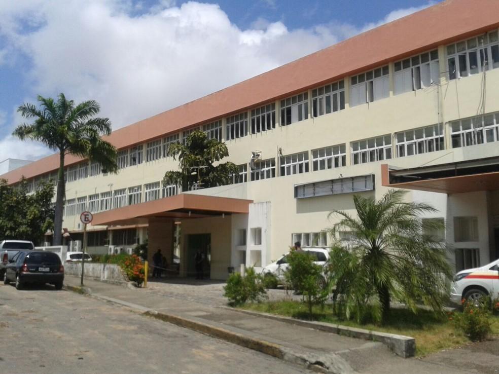 Hospital Giselda Trigueiro, em Natal — Foto: Lucas Cortez/G1