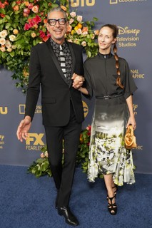 Jeff Goldblum e Emilie Livingston (Foto: Getty Images)