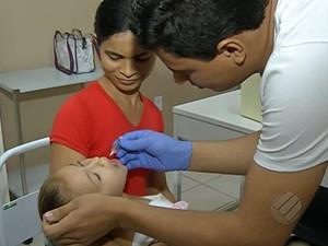 Campanha de vacinação contra a paralisia infantil em Belém. (Foto: Reprodução/ TV Liberal)
