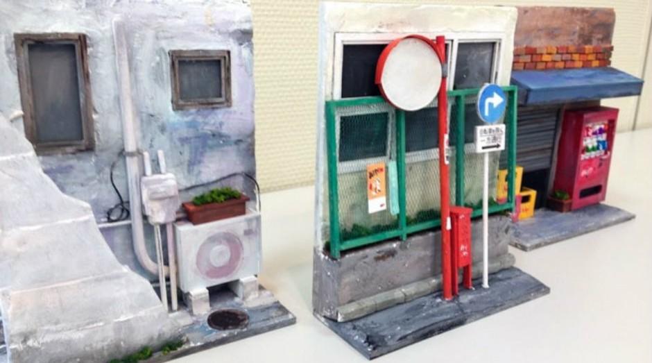 Monde é um designer japonês que faz sucesso com decorações para estantes de livros (Foto: Divulgação)