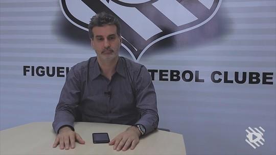 """CEO cita """"dados para decisões"""" após dois jogos e promete mudanças no Figueira"""