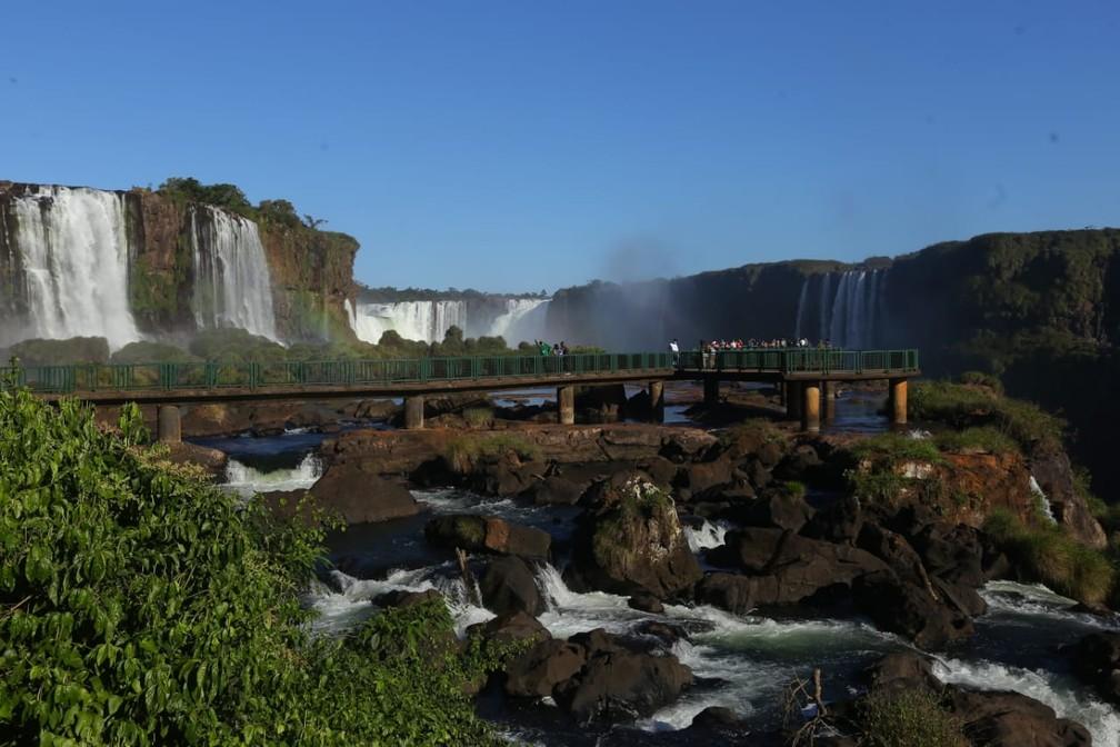 Brasileiros não têm acesso ao lado argentino do Parque Nacional do Iguaçu porque a fronteira está fechada — Foto: Nilton Rolin / Cataratas do Iguaçu