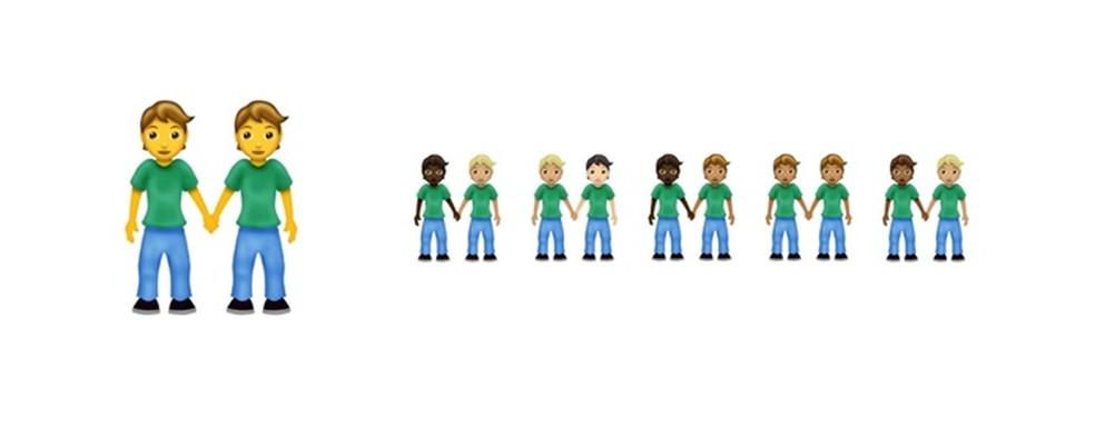 Emoji de pessoas do gênero neutro de mãos dadas — Foto: Divulgação/Emojipedia