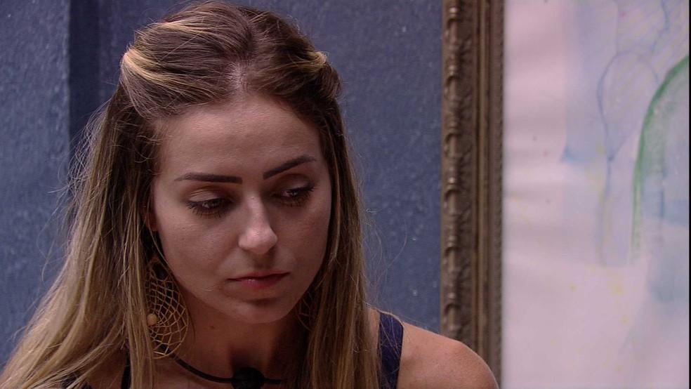 Paula chegou a comentar que não quer mais ser Líder — Foto: TV Globo