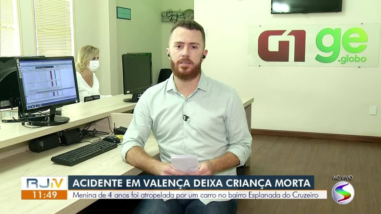 Criança de quatro anos morre atropelada por carro em Valença