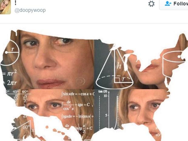 Em um momento glorioso da série 'gringos imitam', o meme da Nazaré fez uma nova aparição na internet norte-americana  (Foto: Reprodução)