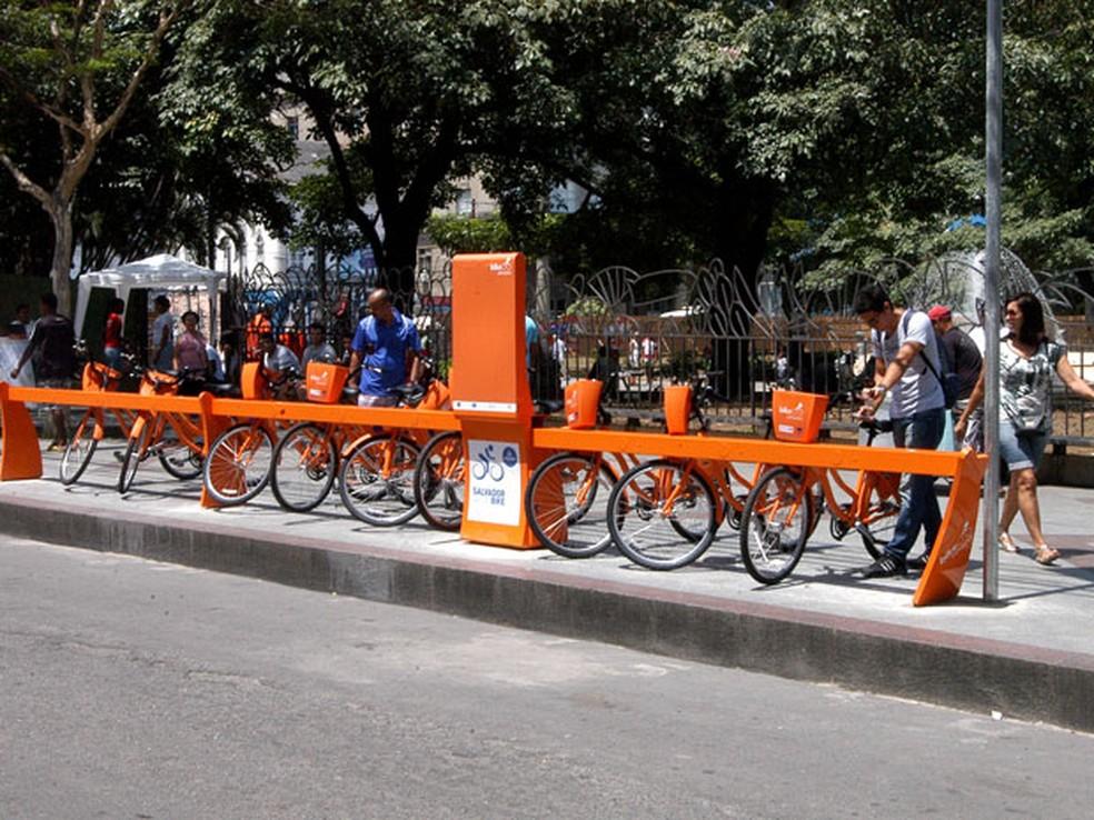 Bicicletas compartilhadas em Salvador — Foto: Divulgação/Prefeitura