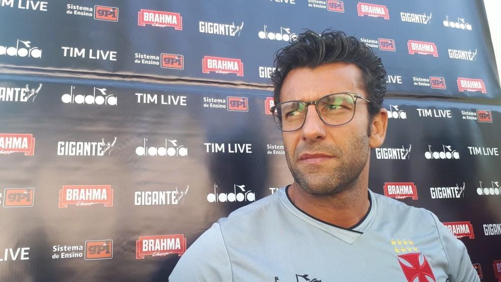 Alberto Valentim, técnico do Vasco — Foto: Bruno Giufrida