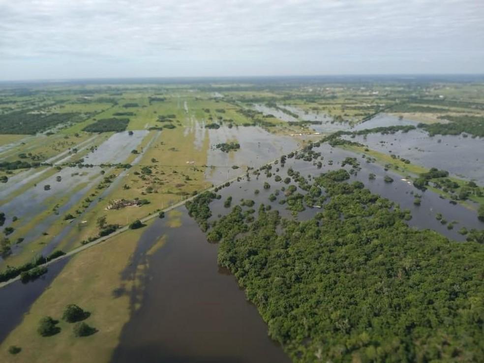 Prefeitura de São João da Barra decretou situação de emergência em decorrência das  inundações e alagamentos — Foto: Divulgação/Prefeitura de São João da Barra