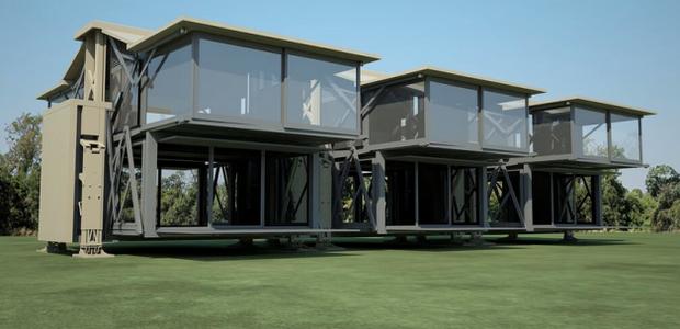 A casa Ten Fold pode ser transportada de um lugar para outro com facilidade (Foto: Reprodução/Ten Fold Engineering)