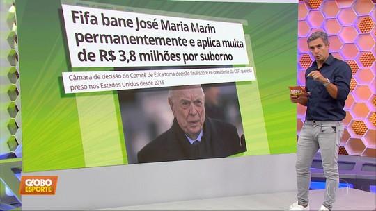 Fifa bane José Maria Marin e aplica multa milionária ao ex-presidente da CBF