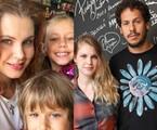 Carolinie Figueiredo com os filhos e com o ex-marido, Guga Coelho | Reprodução