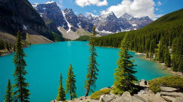 Parque Nacional Banff, no Canadá: beleza e ar puro exportado para todo o mundo (Foto: Wikicommons)