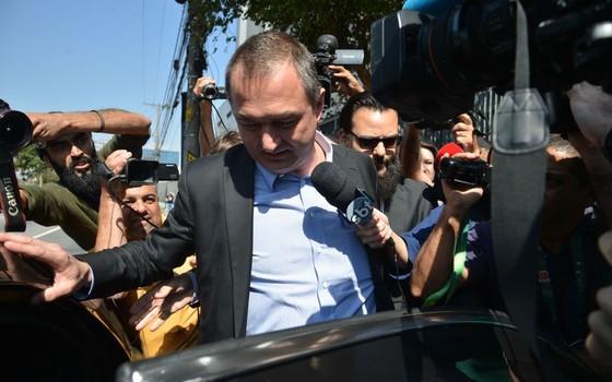 Joesley Batista presta depoimento na Polícia Federal em SP (Foto: Rovena Rosa/Agência Brasil)