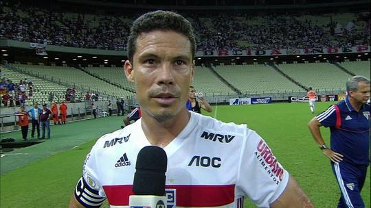 """Hernanes fala sobre homenagem a Rogério Ceni e brinca com ídolo do São Paulo: """"Monstro, Legend"""""""