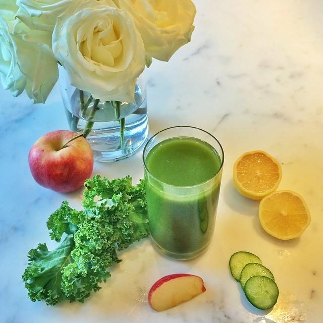 Suco verde de Gisele Bündchen (Foto: Instagram/Reprodução)