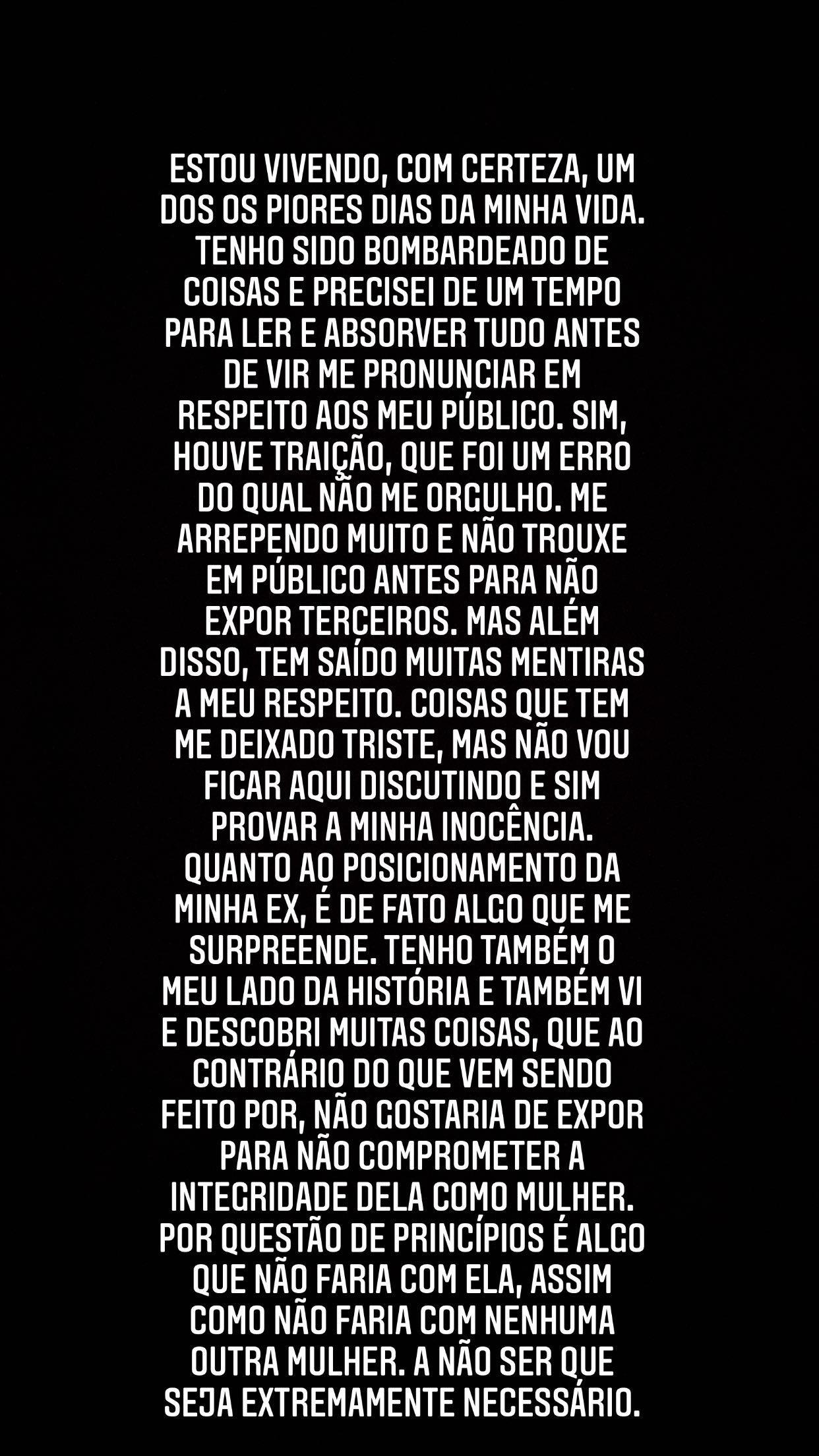 Publicação de Nego do Borel (Foto: Reprodução/Instagram)