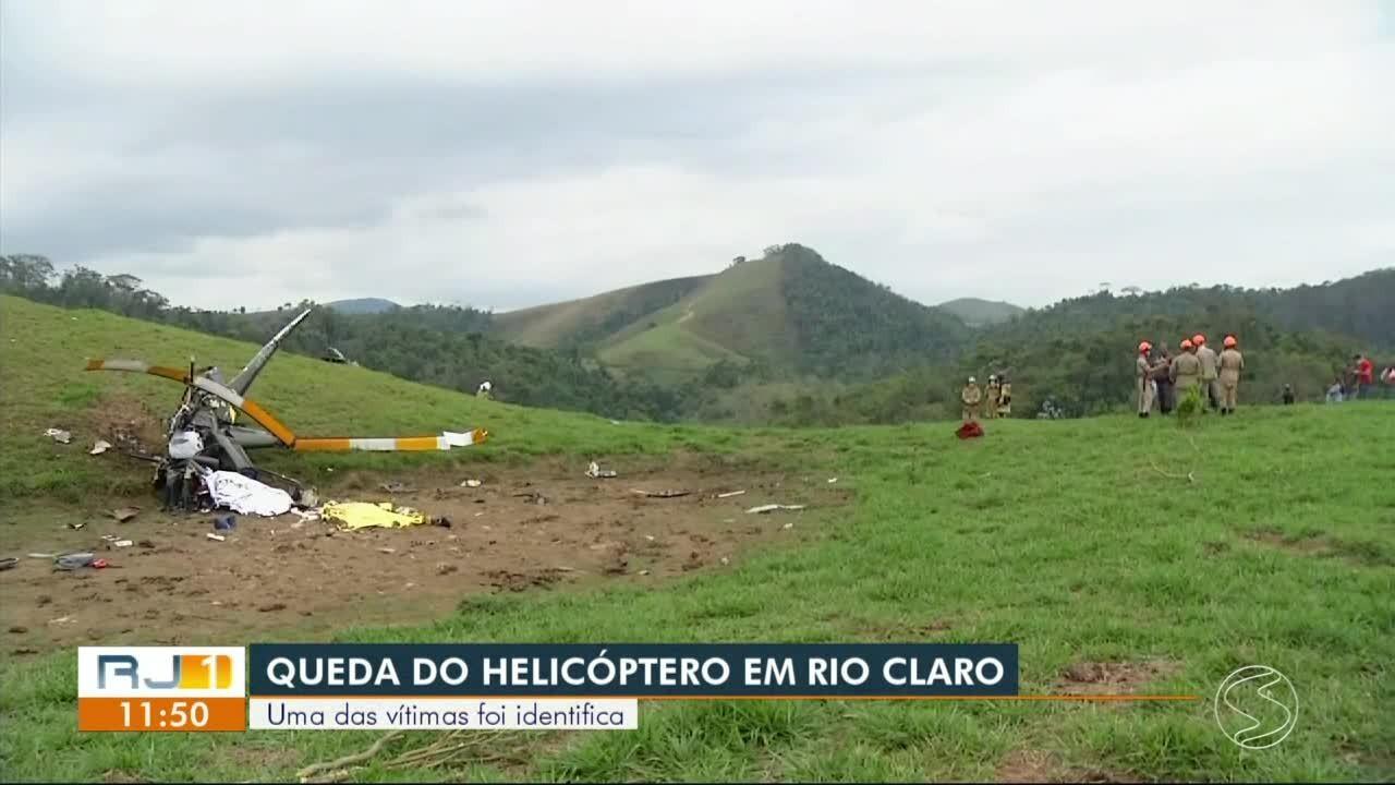 Polícia identifica uma das vítimas de queda de helicóptero em Rio Claro