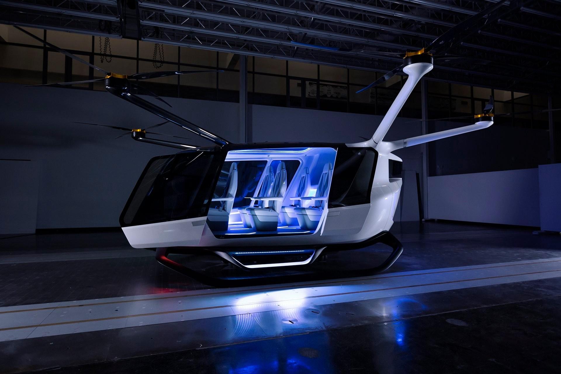 O Skai está em fase de testes, tem espaço para quatro passageiros (mais o piloto) (Foto: Divulgação)
