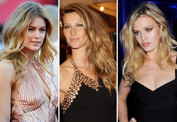 Doutzen Kroes, Gisele Bündchen e Georgia May Jagger: ondas de verão (Foto: Getty Images)