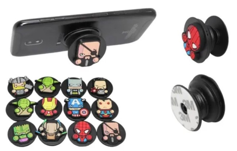 É possível encontrar Pop Socket de diversas cores e modelos — Foto: Divulgação/ Mercado Livre