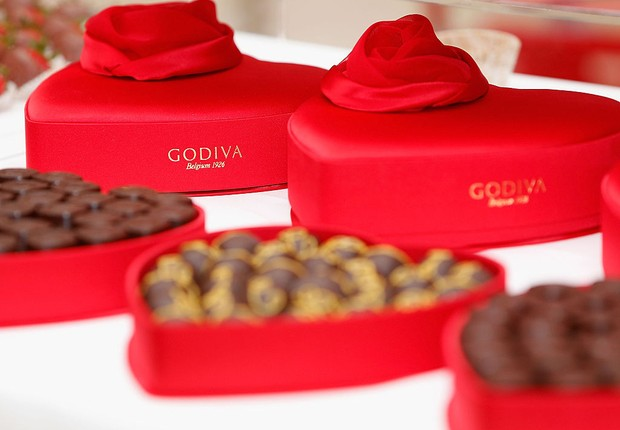 Chocolates Godiva SANTA CLARA, CA - OCTOBER 29: Godiva products on display during Westfield Valley Fair x MarieClaire.com fall trend report at Westfield Valley Fair on October 29, 2016 in Santa Clara, California.  (Foto: Lachlan Cunningham/Getty Images for Westfield Valley Fair)